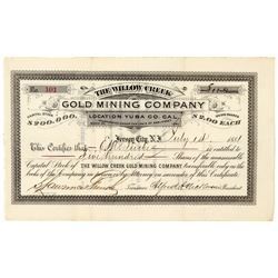 Willow Creek Gold Mining Co. Stock Certificate  (100890)