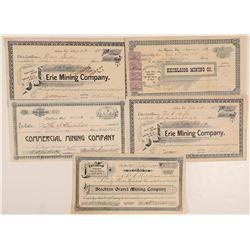 Five California Mining stocks  (103553)