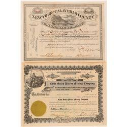NY Gold / CA Placer Mines  (100419)