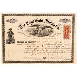 The Eagle Gold Mining Co. Stock Certificate  (102169)