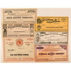 Unissued California Mining Stock Certificates  (91876)