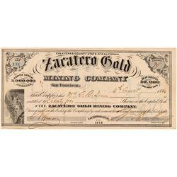 Zacatero Gold Mining Company  (100420)