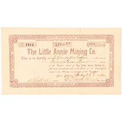 Little Annie Mining Co. Stock Certificate  (91563)