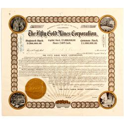 Fifty Gold Mines Stock Certificate  (81907)