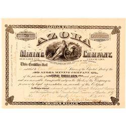 Azora Mining Company Stock Certificate   (91577)