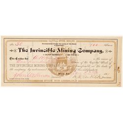 Invincible Mining Company Stock Certificate  (91733)