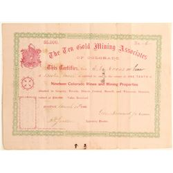 Ten Gold Mining Associates of Colorado  (104729)