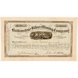 Brittenstene Silver Mining Company Stock Certificate  (91618)