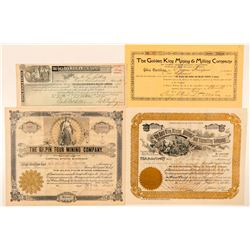 Gilpin & Clear Creek Counties Mining Stock Certificates  (91608)