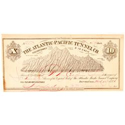 Atlantic-Pacific Tunnel Co. Stock Certificate  (91589)