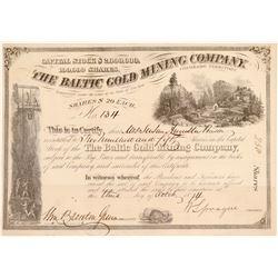 Baltic Gold Mining Company Stock Certificate Colorado Territory  (104750)