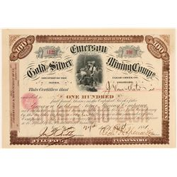 Emerson Gold & Silver Mining Co. Stock Certificate  (100863)