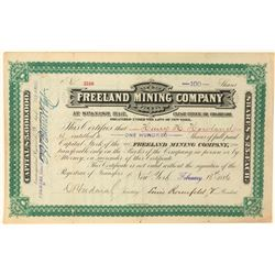 Freeland Mining Company Stock Certificate  (100870)