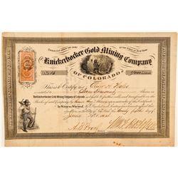 Knickerbocker Gold Mining Co. of Colorado Stock Certificate  (91619)