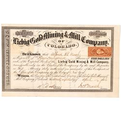 Liebig Gold Mining & Milling Co. of Colorado Stock Certificate  (91760)