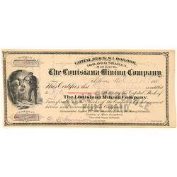 Louisiana Mining Company Stock Certificate  (91742)