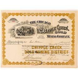 Chicago Cripple Creek Gold Mining Co. Stock Certificate  (91792)