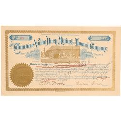 Columbine-Victor Deep Mining and Tunnel Stock with Mining Deed  (104771)