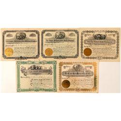 Cripple Creek Mining Stock Certificates  (91829)