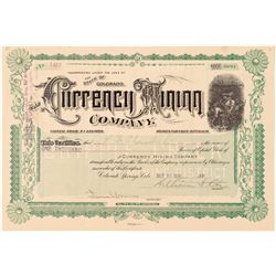 Currency Mining Company Stock Certificate  (91630)