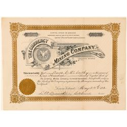 Currency Mining Company Stock Certificate  (91628)