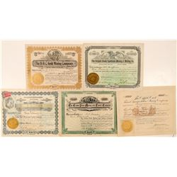 Five Different Cripple Creek Mining Stock Certificates  (91639)