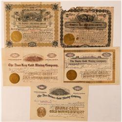 Five Self-Identified Cripple Creek Mining Stocks  (91592)