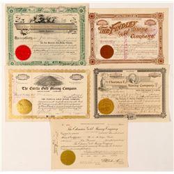 Five Self-Identified Cripple Creek Mining Stocks  (91593)
