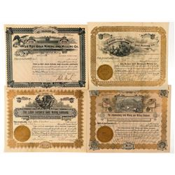 Four Different Cripple Creek Mining Stock Certificates  (91756)