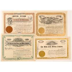 Four Self-Identified Cripple Creek Mining Stocks  (91602)