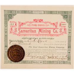 Good Samaritan Mining Company Stock Certificate  (91610)