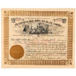Kangaroo Gold Mining & Milling Co. Stock Certificate   (91755)