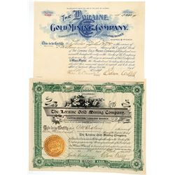 Loraine Gold Mining Co. Stock Certificates  (91751)