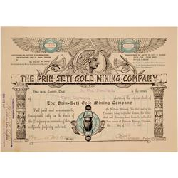 Prin-Seti Gold Mining Company Stock Certificate  (103466)