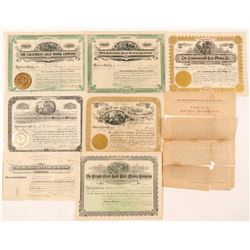 Seven Different Cripple Creek Mining Stock Certificates   (91637)