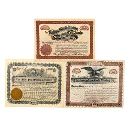 Three Different Cripple Creek Mining Stock Certificates   (91731)