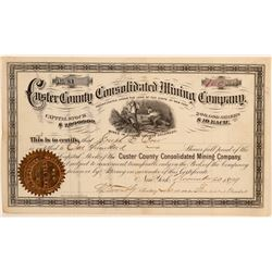 Custer County Consolidated Mining Company Stock Certificate  (100866)