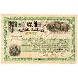 Geyser Mining & Milling Company Stock Certificate  (91609)
