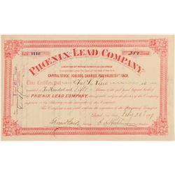 Phoenix Lead Company Stock Certificate  (91828)