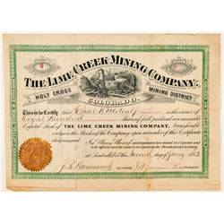Lime Creek Mining Company Stock Certificate  (91623)