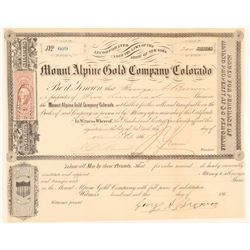 Mount Alpine Gold Mining Co. of Colorado  (104717)