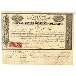 Central Mining Company of Colorado Stock Certificate  (91770)