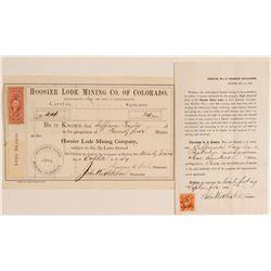 Hoosier Lode MC of Colorado stock and receipt  (104742)