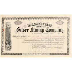 Pizarro Gold & Silver Mining Co. Stock Certificate  (91825)