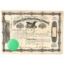 Reliance Gold & Silver Mining Company Stock Certificate  (91768)