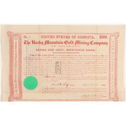 Rocky Mountain Gold Mining Company of Colorado Bond  (91827)