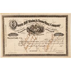 Quartz Hill Mining & Tunnelling Co. Stock Certificate  (101487)