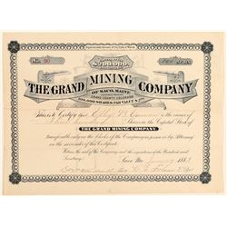 The Grand Mining Company Stock Certificate  (91846)
