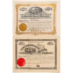 """Two """"Mineral Point"""" Mining Stock Certificates  (91723)"""