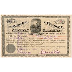 Dwight-Chenoa Mining Co. Stock Certificate  (100865)